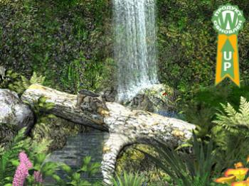 Тихий водопад анимированные обои